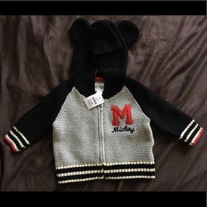Baby Gap Disney Mickey Mouse Sweater ZIP Hoodie